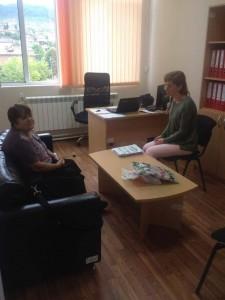 Психологическа консултация в центъра на работеща по проекта от гр.Брацигово